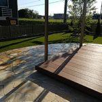 リアル人工芝 施工事例 マンション専用庭、屋上 ①