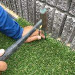 リアル人工芝 施工事例  お庭 ④