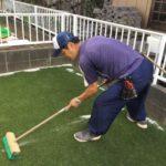 リアル人工芝施工事例 お庭 50~100平米